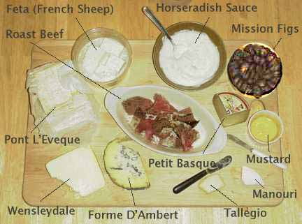 montefin's European Cheese Dessert Board