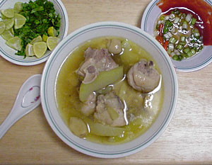 montefin's Filipino Pinoy Chicken Tinola.