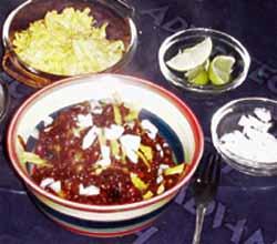 montefin's original Tex-Mex Beef & Black Bean Chili Con Carne Asada