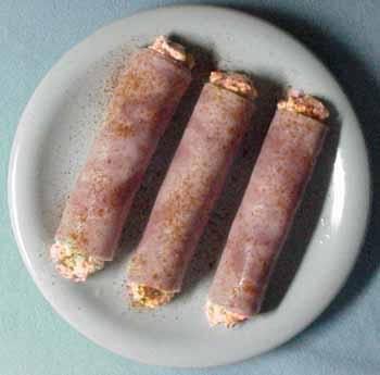 montefin's Salmon Salad Deviled Ham Rolls