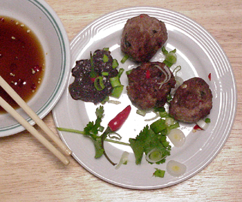 montefin's Spicy Vietnamese Grilled Meatball Appetizers
