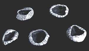 Raku Bowl with mottled metalic finish.