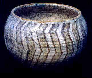 Raku Bowl Inspired by a Papago (Tohono O' Odham) Indian Basket